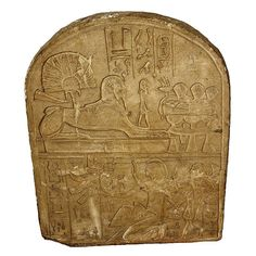 Egyptian Museum - Stela of Tuthmosis the Fourth with Sphinx - ARCHITECTURE: ARCHITECTURAL ELEMENT: STELA   NON ORGANIC: ROCK: LIMESTONE   NEW KINGDOM: 18TH DYNASTY: TUTHMOSIS IV/MENKHEPERURE