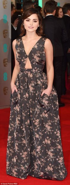 Doctor Who actress Jenna Coleman wore a dress with too fussy floral print...