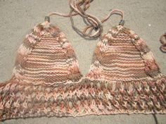 Peach halter top crochet halter crochet top with by KnitSew4U, $28.00