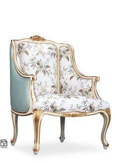 TALMD新古典软包扪布单人沙发休闲沙发...