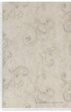 Motifs baroques gris - Papier peint Estetica de Montecolino