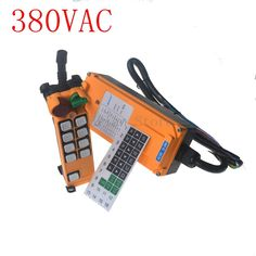 380VAC 8 channel 1 Speed Hoist Crane Truck Radio Remote Control System with E-Stop