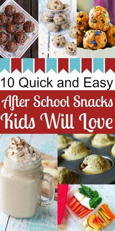Catch-up with your kids after school over a quick and easy snack. Here are 10 delicious ideas to enjoy as you hear about their day.