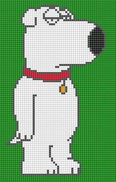 Brian - Family Guy perler bead pattern