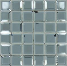 """Hemisphere Blue 2"""" x 2"""" Glossy & Frosted Glass Mirror Tile Mirror Tiles, Wall Tiles, Unique Tile, Big Box Store, Tile Installation, Frosted Glass, Mosaic Glass, Backsplash, Blue"""