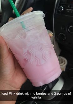 Starbucks Hacks, Healthy Starbucks Drinks, Starbucks Secret Menu Drinks, Starbucks Coffee, Yummy Drinks, Healthy Drinks, How To Order Starbucks, Pink Drinks, Smoothie Drinks
