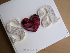 my initial quilling card ~.~