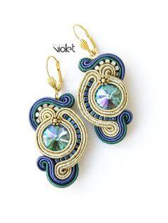 Soutache Earrings, Women's Earrings, Beaded Necklace, Shibori, Earring Trends, Polymer Clay Charms, Macrame Jewelry, Ribbon Crafts, Beading Tutorials