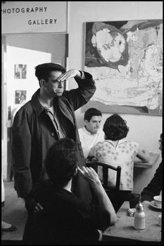 Burt Glinn  USA. New York City. 1959. Writer Jack KEROUAC at a Beat party.