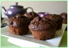 These vegan muffins are oil-free with peanut butter and double chocolate chips.  Fresh, sweet raspberries stand in for the jelly and adds a nice surprise.