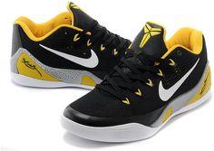 Nike Kobe 9 Low EM Black White Yellow, cheap Kobe 9 Men, If you want to  look Nike Kobe 9 Low EM Black White Yellow, you can view the Kobe 9 Men ...