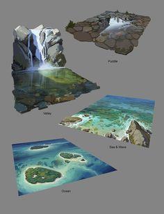 ArtStation - Tägliche Skizze, Shin Young Hun - I l l u s t r a t i o n s - Art Concept Art Tutorial, Digital Art Tutorial, Digital Painting Tutorials, Art Tutorials, Game Concept Art, Landscape Drawings, Landscape Art, Landscape Paintings, Art Drawings