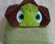 Yikes Twins Unicorn Hooded Towel | Etsy Hooded Bath Towels, Baby Towel, Beach Kids, Polar Fleece, Rainbow Colors, Baby Animals, Machine Embroidery, Hoods, Little Girls