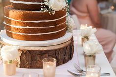 Rustic Chic Naked Cake.  Check out the latest Knot Too Shabby Events blog about all things weddings and events in Wilmington NC, from tips and tricks to event highlights and more!