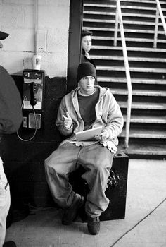 Eminem writing Lose Yourself on the set of 8 Mile