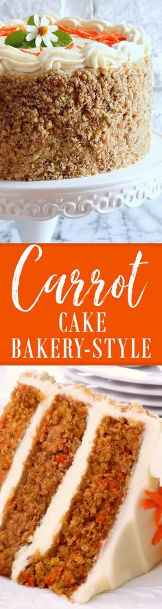 Carrot Cake ~ Best Ever Bakery-Style ~ Our Classic Carrot Cake made bakery-style is moist and tender as well as spiced and sweetened just right. In addition, this scrumptious cake is made of the finest all-natural, pure and organic ingredients you can find. The buttercream, our popular recipe for Best Ever Cream Cheese Buttercream, and the finely chopped walnut coating, takes Classic Carrot Cake to a whole new level—making it an exceedingly exceptional cake that everyone will love!