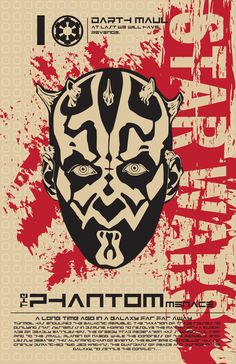 Darth Maul - Star Wars Poster Series by Kegan Rivers, via Behance