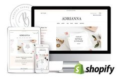 Adrianna - Feminine Shopify Theme by Bluchic on @creativemarket