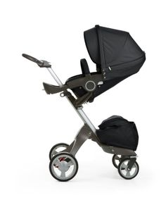 Stokke Xplory stroller in all-new Black fabric  #kids #strollers #baby #chic
