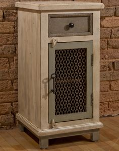 Hillsdale Furniture LaRose Cabinet with Chicken Wire Accent - Antique White Hillsdale Furniture, Refurbished Furniture, Farmhouse Furniture, Pallet Furniture, Upcycled Furniture, Rustic Furniture, Diy Wood Projects, Wood Crafts, Pallet Crafts
