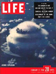 Life Magazine Cover Copyright 1950 Atomic Explosion