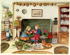 water color new england christmas cards - Google Search