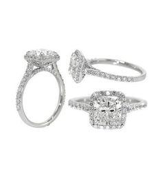 Yaritza's favorite one!!!!!! Lux Bond & Green : Cushion Cut Diamond Engagement Ring
