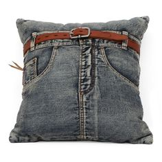 Jean Cushion Blue Denim w/ Front Jean. Not sure why this would cost anyone 110.00 because pretty sure I can make it for about 10.00.