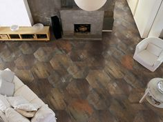 Porcelain stoneware wall/floor tiles with metal effect EXTREME Metal Collection by Apavisa Porcelánico