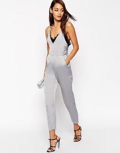 ASOS | ASOS Premium Lace Cami Jumpsuit at ASOS
