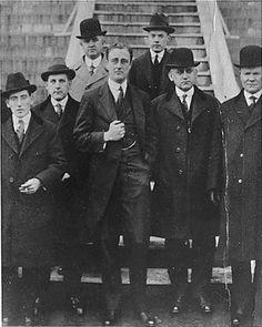 Franklin Delano Roosevelt (FDR) as Secretary of Navy at the Brooklyn Navy Yard; December 12, 1916.