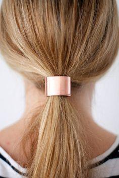 Tie One On: 2 Materials, 4 DIY Hair Cuffs