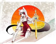 okami amaterasu human form in game - Google Search