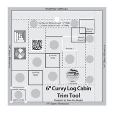 "Creative Grids Curvy Log Cabin Trim Tool For 6"" Finished Blocks (Cgrjaw6)"