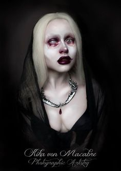 Photography/Makeup/Model : Kika von Macabre * Makeup inspired by MICHAEL HUSSAR
