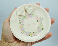 Porta Alianças - Esmaltado brasão floral