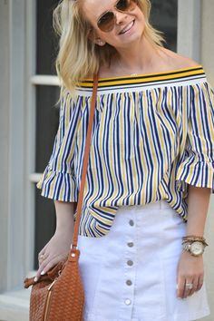 Belle Sleeves and Stripes