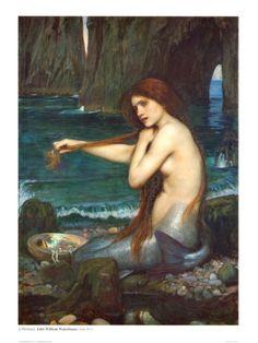"""A Mermaid"" by John William Waterhouse"