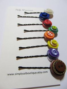 Button Bobby Pin LDS Young Women Values by simplysalboutique