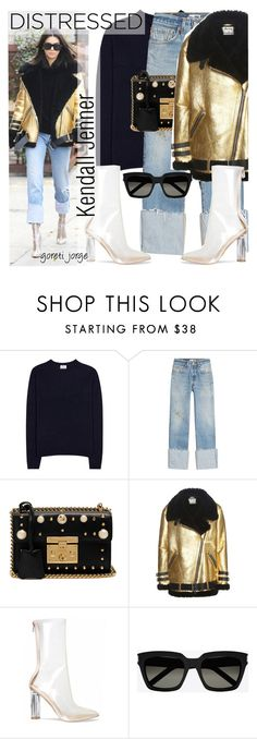 """""""Kendall Jenner"""" by goreti ❤ liked on Polyvore featuring Acne Studios, RE/DONE, Gucci, Yves Saint Laurent, GetTheLook, celebstyle, distresseddenim and modelstyle"""