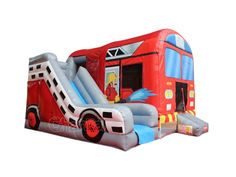 Buy commercial grade inflatable fire safety education for kids, inflatable fire house, fire truck and fire station bounce house and slide for sale. Bouncy House, Bouncy Castle, Toy Trucks, Fire Trucks, Fire Safety For Kids, Toy Display, Farm Toys, Educational Activities, Things That Bounce