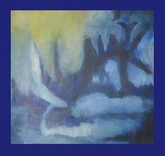Librando dificultades - Encáustica - 60x60