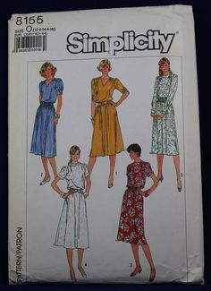 c8800c4ee83c0 Vintage Sewing Pattern for a Woman s Dress in Size 12-14-16 - Simplicity  8155