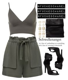 """""""↓ Yass."""" by fuckedchanel ❤ liked on Polyvore featuring Forever New, Accessorize and ADAISM"""
