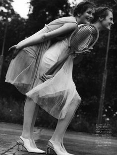 """""""Age of Innocence"""" Vogue Nippon tennis editorial"""