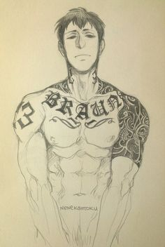 Bertholdt - why is Reiner's last name tattooed on his chest like what if they break up jesus bertholdt be smart about your life choices