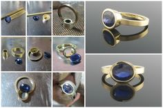 Handmaking an oval blue sapphire engagement ring in 18ct yellow gold #EngagementRings #Contemporary #Jewellery
