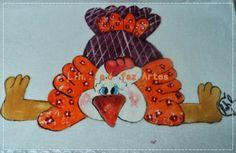 pano de prato galinha colorida