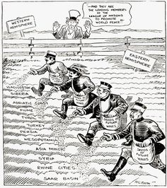 A political cartoon showing the aftermath of the Treaty of Versailles. Germany is thought to be a reason for another World War for signing the treaty, they are blamed for all the loss and damage. Modern World History, World History Lessons, European History, Us History, American History, American Women, Ancient History, World History Classroom, History Teachers