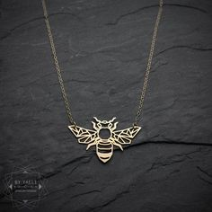 Hey, I found this really awesome Etsy listing at https://www.etsy.com/il-en/listing/480005540/bee-necklace-origami-gold-bee-necklace